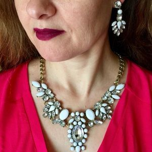 """""""Victoria"""" Easter Statement Necklace Earring Set"""
