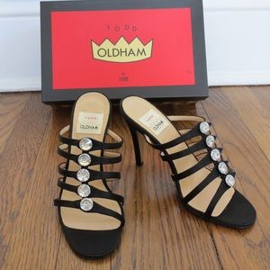 Todd Oldham Shoes - Rare vintage TODD OLDHAM black satin heels