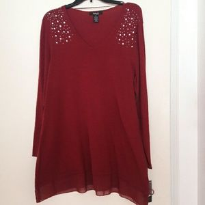 Style & Co Tops - Burgundy knit Tunic