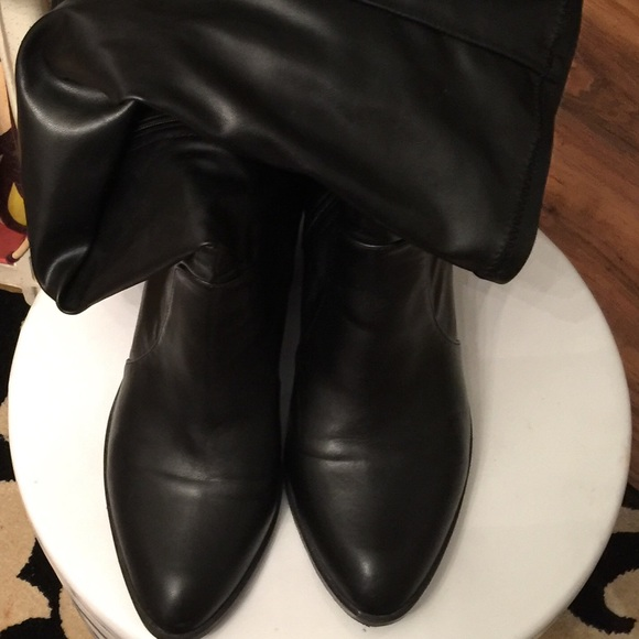 72 shoes faux stretch leather the knee boots