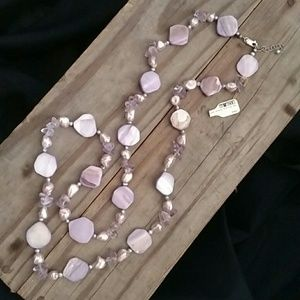 Keyhole Boutique Jewelry - NWT 925 Amethyst, Pearl necklace & Earrings