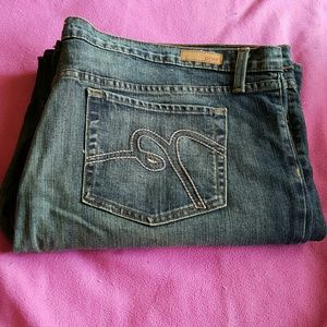 Like new plus size piper jeans. Size 25. Wide leg