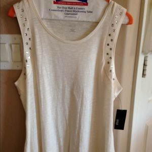 a.n.a. A new approach off white tank – size large