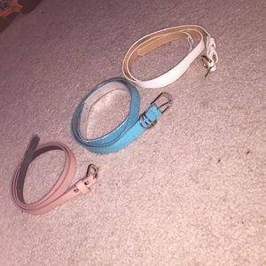 Accessories - set of belts