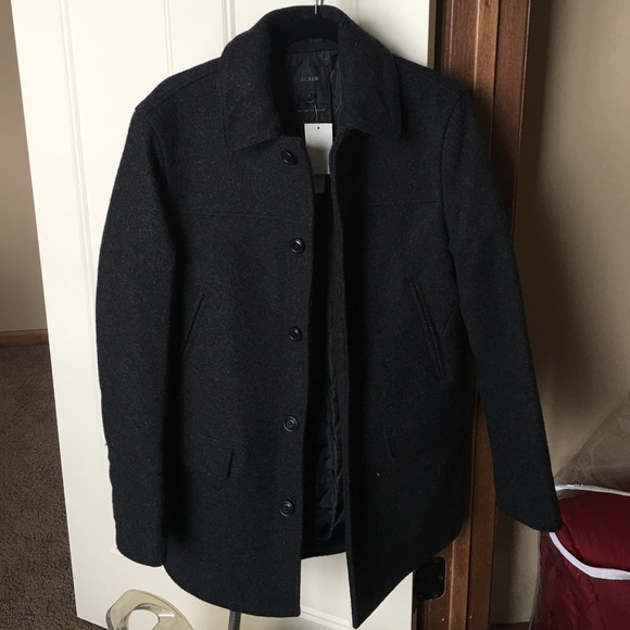J Crew Slim University Coat with Thinsulate