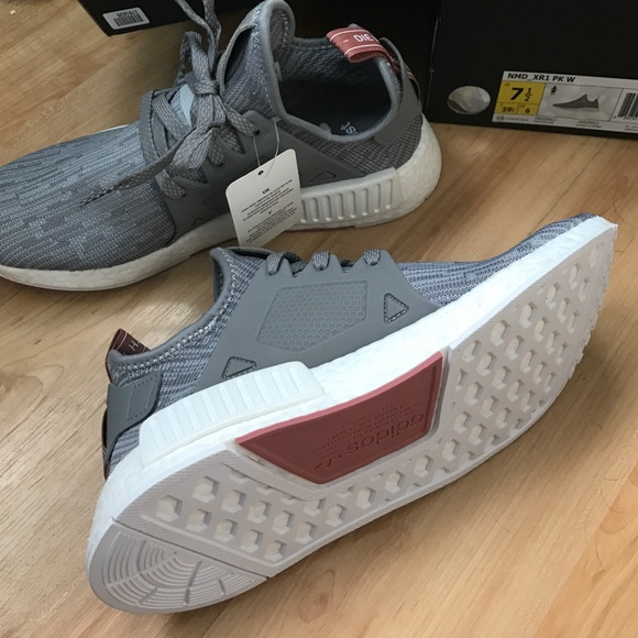 NMD XR1 Primeknit Ice Purple Mid Grey White Gum Bottom Adidas