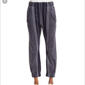 Zero + Maria Cornejo Pants - Maria and Cornejo Linen blend ankle pants