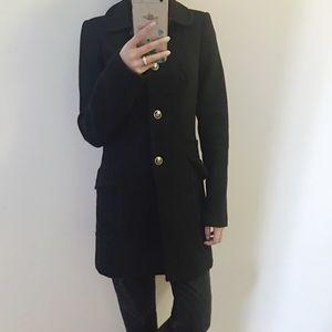 🆕 Juicy couture black woolen slim coat