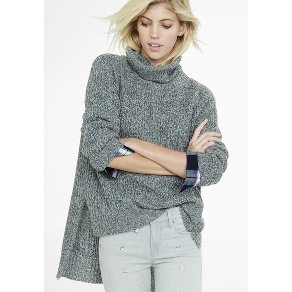 EXPRESS Oversized Turtleneck Sweater