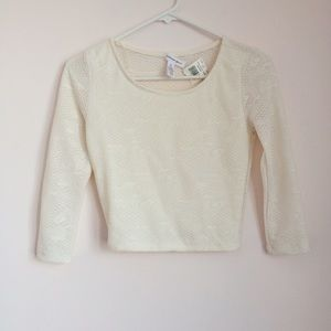 Ambiance Apparel Tops - NWT Off White Crop Top