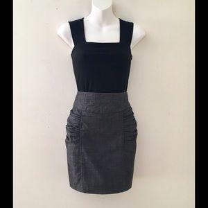 "TwentyOne Dresses & Skirts - 🌹MINI ""TWENTY ONE"" GREY SCRUNCH SKIRT SZ S/P🌹"