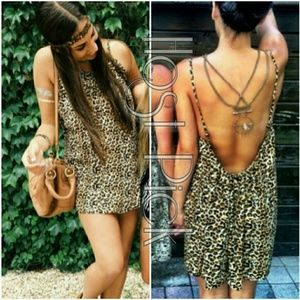 NWT LF Animal Leopard Print Sun Dress Tunic Aus S