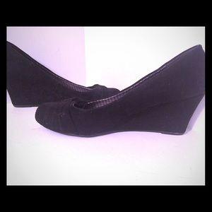 Dexflex Comfort Black Wedge Shoes
