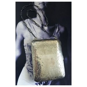 Antique Sterling Make-up Coin Case Compact Purse
