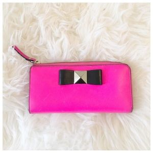 Kate Spade Pink Bow Wallet