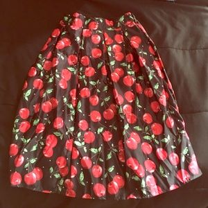 CHOIES Dresses & Skirts - (Firm Price) Brand New Cherry Vintage Skirt