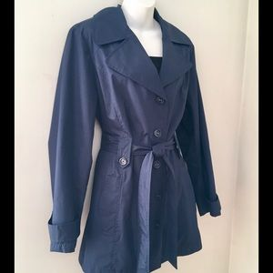 """White Stag Jackets & Blazers - SHORT NAVY BLUE """"WHITE STAG"""" TRENCH COAT. SIZE M-L"""
