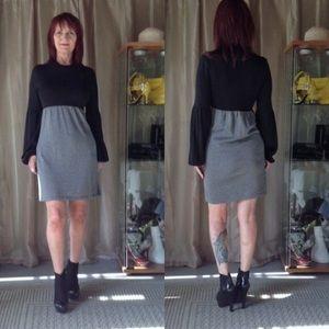 Laundry by Design Dresses & Skirts - BLACK & GRAY LONG SLEEVE DRESS