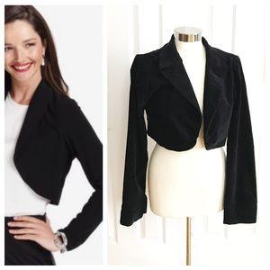 Fang Jackets & Blazers - Black Cropped Longsleeve Bolero Jacket Blazer