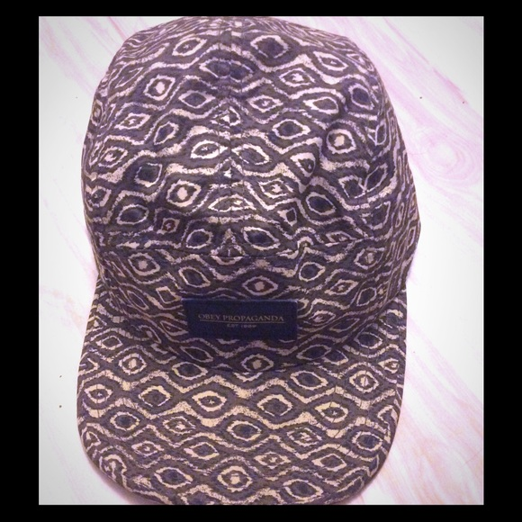 6874f88e1bb OBEY International 5 Panel Men s Ikat Hat. M 58754fbb13302a0ecd018c4c