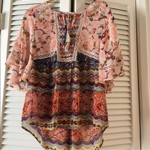 Anthropologie Meadow Rue Boho Top
