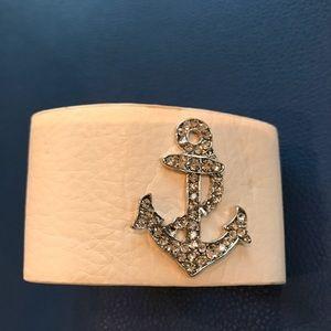 Jewelry - White leather cuff nautical bracelet