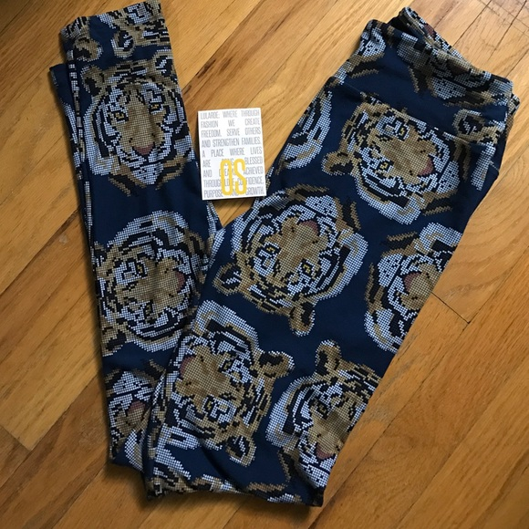 76ffcf28604a0a LuLaRoe Pants | Nwt Os Digital Tigers Leggings | Poshmark