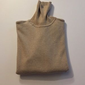 Country Shop Beige Turtleneck Cashmere Sweater
