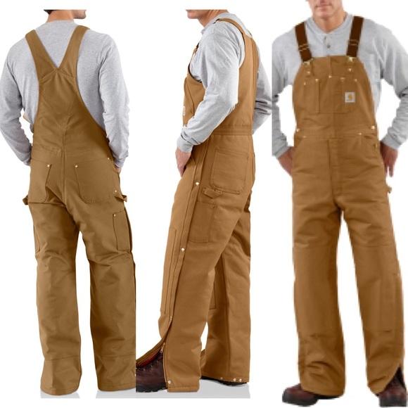 5b729697c0 Carhartt Pants   Duck Ziptothigh Bib Overall Quilt Lined   Poshmark