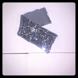Silver sparkly sash/ belt