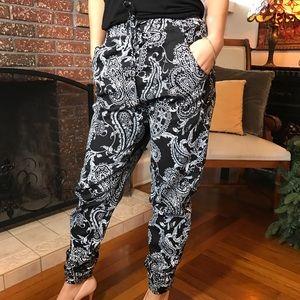 American Bazi Pants - Paisley jogger long pants. B052