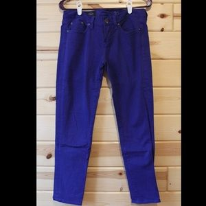 Royal Blue J. Crew Toothpick Ankle Jean