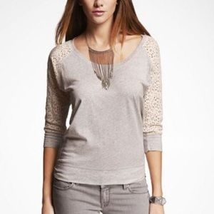 Express Crochet Lace Sleeve Top