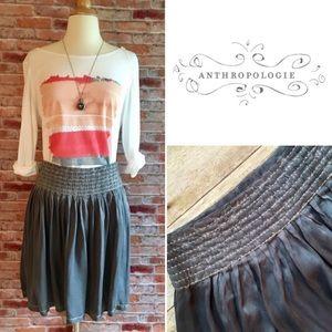 Anthropologie Dresses & Skirts - Moulinette Soeurs gray silk banded waist skirt