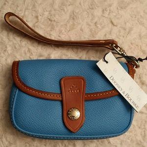 Dooney and Bourke  Handbags - Dooney and Bourke NWT Heather Blue Flap Wristlet
