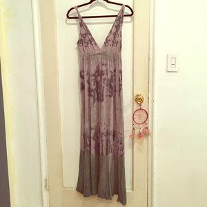 Alternative Dresses & Skirts - New Boho V-neck Tyedye Print Maxi Dress. Size S