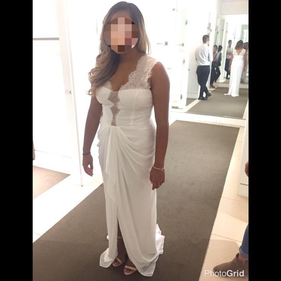 BCBGMaxAzria Dresses | Brandy Lace Dress Gown Wedding Bridal | Poshmark