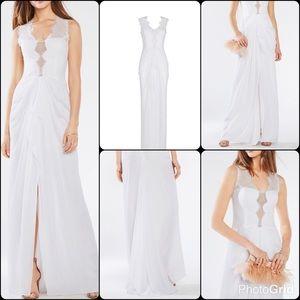 BCBGMAXAZRIA Brandy Lace Dress Gown Wedding Bridal