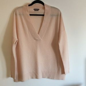 Zara Knit 100% Cashmere Shawl Sweater Medium