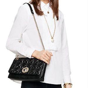 kate spade Handbags - $250 off New Kate spade black & golden quilted bag