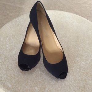 Bruno Magli Black Peep Toe Pumps Sz. 7.5