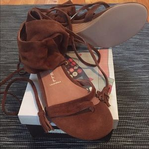 Jeffrey Campbell Shoes - Brand New Jeffrey Campbell Suede sandals size 8!