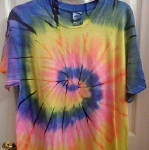 Tops - Hand tie dyed tee shirt.