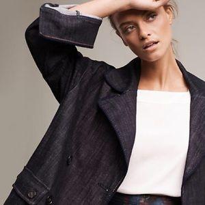 Anthropologie Jackets & Blazers - SALE Pilcro and the Letterpress Lola Denim Peacoat