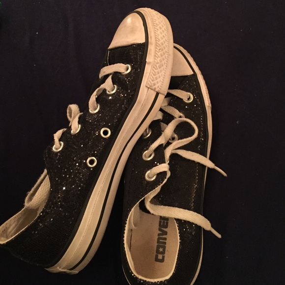 28b8bd7f8c8 Converse Shoes - Black sparkle converse size 6 2 HOUR SALE