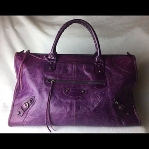 Balenciaga Handbags - Balenciaga Purple / Violet Leather City Bag