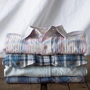 Current/Elliot slim boy shirt in paradise plaid