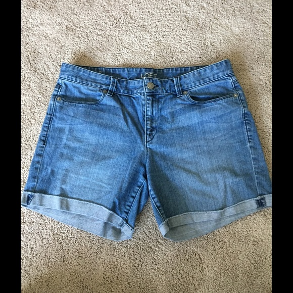 LOFT Pants - LOFT denim shorts with cuffs.