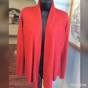 Chico's Red Sparkle Cardigan