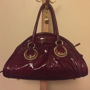 Elie Tahari patent red handbag